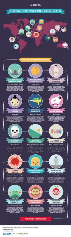 The World's Weirdest Festivals #Infographic #infografía