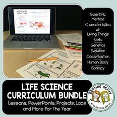 Everything you need at your fingertips! Teach an entire YEAR of life science with over 35 weeks of lessons in this curriculum bundle - including daily warm-ups, lessons, labs, activities, projects, study guides and assessments, and an animated PowerPoint for each of the following units: Scientific Method, Cells, Genetics, Evolution, Human Body, Ecology, and Classification. WE ARE DIGITIZING OUR LESSONS FOR GOOGLE CLASSROOM! The product will be updated for free as products are converted.