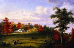 Cornelius Krieghoff - The Country House of Capt. John Walker, near Quebec