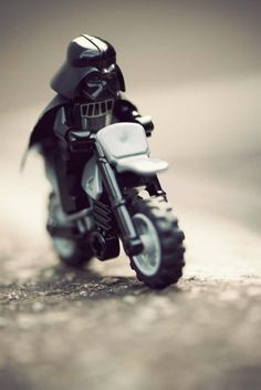 Imperial Angels by Balakov | LEGO Star Wars Darth Vader Minifig on Motorcycle