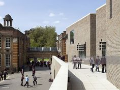 University College School Ucs Phase 2London, Nw8, United Kingdom, Architect: Orms, 2007, Ucs?S New Art, Language And Technology Wing By Orms Entrance & Victorian School