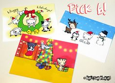 6 Pack Holiday Card Sets  christmas cute kawaii by ReLovePlanet https://www.etsy.com/listing/114025937/6-pack-holiday-card-sets-christmas-cute?ref=shop_home_active_1