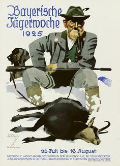 Hohlwein 1925 Bayerische Jaegerwoche