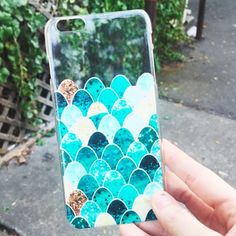 Mermaid Tail Clear iPhone Case- for our land locked #mermaids #finfun #mermiadtail