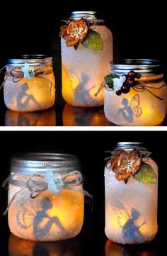 21 Amazingly Thanksgiving Crafts For Adults Pot Mason Diy, Mason Jar Crafts, Bottle Crafts, Mason Jars, Easy Christmas Crafts, Thanksgiving Crafts, Thanksgiving Decorations, Fairy Lanterns, Deco Nature