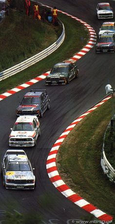 DTM 1992 on the Nordschleife - Keke Rosberg in front of Johnny Cecotto's BMW and Klaus Ludwig in the black AMG-Mercedes