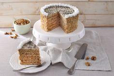 sütnijó! – Kipróbált sütemény receptek - Eszterházy-torta Krispie Treats, Rice Krispies, Vanilla Cake, Tiramisu, Panna Cotta, Ethnic Recipes, Food, Dulce De Leche, Essen