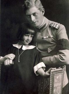 Prince Carol II of Romania and his sister Princess Ileana, children of Queen Marie, nee Princess Marie of Edinburgh, daughter of Queen Victoria's son Alfred Princess Alexandra, Princess Beatrice, Mary I, Queen Mary, Princess Victoria, Queen Victoria, Von Hohenzollern, Romanian Royal Family, Blue Bloods
