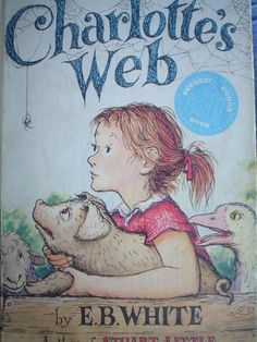 1952 Charlottes Web by E. B. White Vintage Childrens Book Pictures Garth Williams