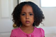 A review of a biracial girl's night time mixed hair care routine.