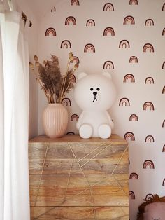 Children's Rainbow Bedroom Reveal Nursery Room Decor, Bedroom Themes, Nursery Themes, Girl Nursery, Girl Room, Girls Bedroom, Peach Bedroom, Blush Nursery, Nursery Ideas