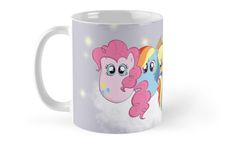 My Little Pony in Tiggle form, sitting on a magical cloud. / From left, / Pinkie Pie, Rainbow Dash, Applejack, Twilight Sparkle, Fluttershy & Rarity. • Also buy this artwork on home decor, apparel, phone cases, and more.