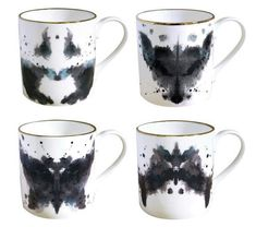 Cognitive Coffee Cups : Ink Blot Mugs