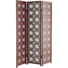 4 Panel Indian Hand Carved Wooden Screen Room Divider