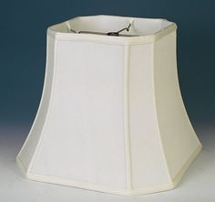 Bell Cut Corner Silk Square Lamp Shade, Cream, White Soft Luxury Lining Square Lamp Shades, Small Lamps, Swag Light, Buffet Lamps, Cream White, Lampshades, Geometric Shapes, Candlesticks, Cool Designs
