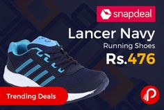 Snapdeal #TrendingDeals is offering 5% off on Lancer Navy Running #Shoes Just at Rs.476. Lightweight and suitable for all sports activity with good fitting. Extra 5% Off on purchases made through All Credit/Debit Cards.   http://www.paisebachaoindia.com/lancer-navy-running-shoes-just-at-rs-476-snapdeal/