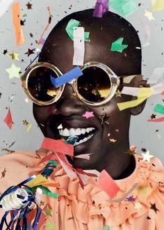 Nykhor Paul for the Karen Walker Eyewear 10 years Birthday Project. // Photographer: Derek Kettela / Make Up: Valery Gherman / Casting: Maurilio Carnino for MTC Casting