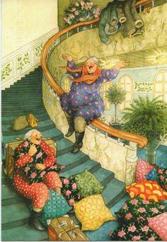 New Inge Look postcard received today Old Lady Humor, Image Originale, Whimsical Art, Art Design, Cute Illustration, Poster, Old Women, Monet, Vintage Art