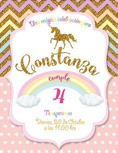 Invitación digital unicornio