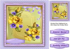 Beautiful Yellow Roses by Ceredwyn Macrae A lovely card with Beautiful Yellow Roses has 3 greeting tags and a blank one: A lovely card with…