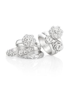 These Mia Stacker Rings make me happy– Crystal Jewelry, Diamond Jewelry, Silver Jewelry, Jenna Clifford, Bangle Set, Silver Roses, Jewelery, Jewelry Box, Ring Designs