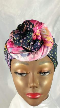 African Inspired Handmade Batik Global Head Wrap Turban Hair Scarf Hat for Women - Captivating Kinky Coily Hair - African Hats, African Dress, Cute Work Outfits, Casual Fall Outfits, Fall Sweaters For Women, Hats For Women, Perfect Fall Outfit, African Clothing For Men, Coily Hair