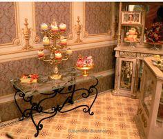 Garden of Miniatures gorgeous black wrought iron table