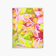 Tropical Punch Duvet Covers by PolkaDotStudio #new #bright #fun #red #yellow #pink #tropical #art on #home #fashion #decor #accessories #bedding #bed #bedroom #apartment