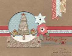 Holiday Cheer Christmas Card #ctmh #cute #whitepines