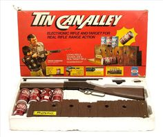 1970's toys | Ideal Toy Co Tin Can Alley Chuck Conners Boxed 1970's
