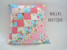 "Cath Kidston Cushion, Cushion Cover, Patchwork Cushion Cover, Pillow Cover,  Decorative Cushion, Patchwork 14""x14"" - pinned by pin4etsy.com"
