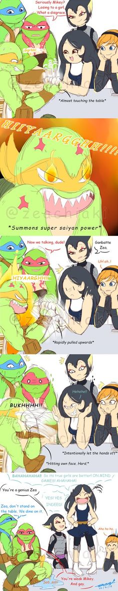 Part 2, boy vs girl, girl win Just made a short-stupid-sketching-fanfic-comic Plz, don't kill me xD #tmnt #fanart #tmnt2012 #zea #tmntau #leo #raph #mikey #donnie #ninjaturtles #april #karai #comic