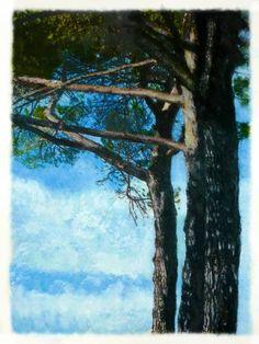 """Saatchi Art Artist Kunstbetrieb Alujevic; Painting, """"Trees"""" #art"""