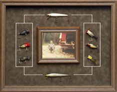 Fishing Memories. Frame your favorite photo of Dad and display his old fishing lures!