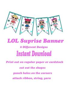 LOL Surprise Banner 8 Different doll images DIY
