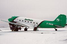 Buffalo Airport, Douglas Dc3, Mcdonald Douglas, Douglas Aircraft, Passenger Aircraft, Commercial Aircraft, Aviation Art, Airplane, Canadian Airlines
