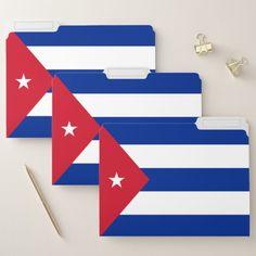 Cuba Flag File Folder Custom Office Retirement #office #retirement