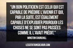 Citation de Winston Churchill  sur les politiciens