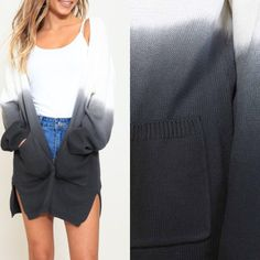 Ombré dip dyed open front cardigan with pockets😍 I fell in love with this one months ago and the wait is almost finally over! Arrives Tuesday!🙌🏼    •    •    Small-large available. TTS; Preorder for $38/ships free to US. •    Comment or DM with size and state with email for secure invoice via PayPal (sales tax applies to MS RESIDENTS ONLY) •    •    •    •    •    •    •    #yesplease #mystyle #streetstyle #fall2017 #fallstyle #falliscoming #fallfashion #fallismyfavorite #sweater…