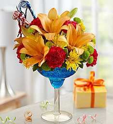 Happy Hour Cocktail Flowers ~ Create Beautiful Table Decorations #happyhour #flowers #contest
