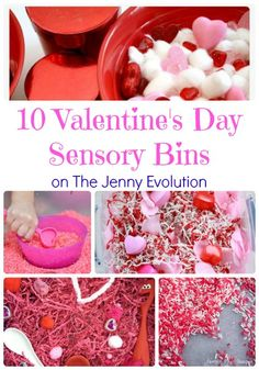 10 Valentine's Day Sensory Bins | The Jenny Evolution