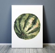 Lovely Watermelon poster. Beautiful Food print for your home and office. Cute Watercolor print. Nice hand drawn Kitchen art.  BUY 1 GET 1 FREE -