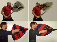 Proper Way to Hold A Shield Sca Armor, Viking Armor, Fight Techniques, Self Defense Techniques, Kendo, Historical European Martial Arts, Medieval Shields, Fighting Poses, Armadura Medieval
