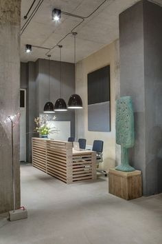 Home Designing — (via Office Reception Design)