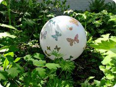 DIY Garden Gazing Ball made with old light fixture~
