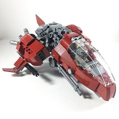 "Dragonfly MK II - a beefed-up, greebled evolution of my 2014 MOC, ""Dragonfly."" #pl47 