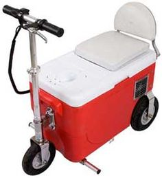 electric scooter/cooler