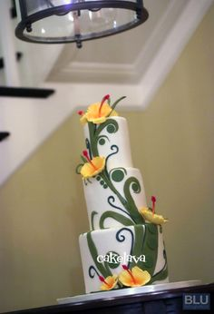 "cakelava: A Stroll Down Memory Lane - 2007. ""Robyn"". Whimsical hibiscus cake."