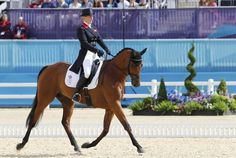 Zara Phillips of Great Britain on High Kingdom competes in the Dressage Equestrian event on Day 2 of the London 2012 Olympic Games at Greenwich Park on July 29, 2012 in London, England.