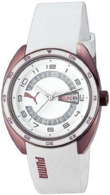 Relógio Puma Course L White Dial White Silicone Mens Watch PU102522008 #Relógio #Puma